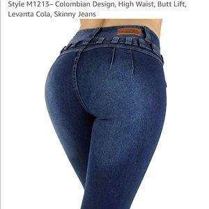 High waisted sexy booty button butt